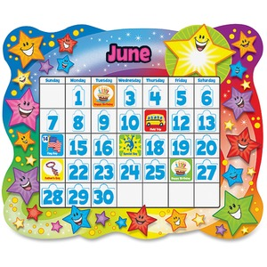 Trend Star Calendar Bulletin Board Set TEPT8194