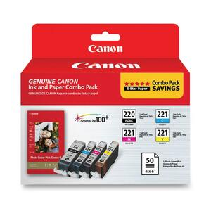 Canon PGI220CLI221 Ink Cartridge - Black, Cyan, Magenta, Yellow CNMPGI220CLI221