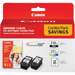 Canon PG210/CL211 Ink Cartridge - Color, Black CNMPG210CL211