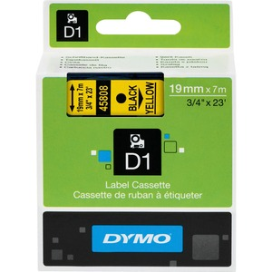 Dymo Black on Yellow D1 Label Tape DYM45808