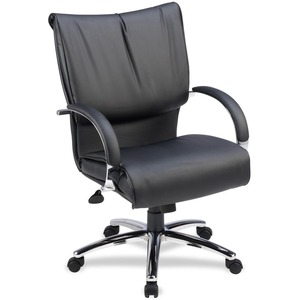 Lorell Mid-Back Dacron-Filled Cushion Management Chair LLR69515