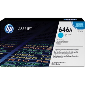 HP 646A Cyan Original LaserJet Toner Cartridge HEWCF031A