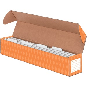 Bankers Box Sentence Strip Storage Box w/4 Dividers FEL3380401