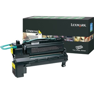 Lexmark C792X1YG Extra High Yield Return Program Toner Cartridge LEXC792X1YG
