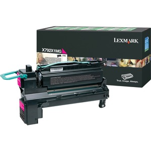 Lexmark X792X1MG Toner Cartridge - Magenta LEXX792X1MG