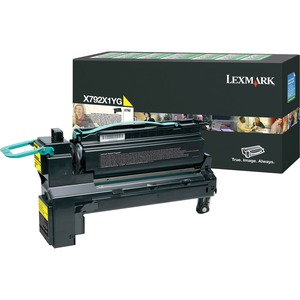 Lexmark X792X1YG High Yield Toner Cartridge LEXX792X1YG