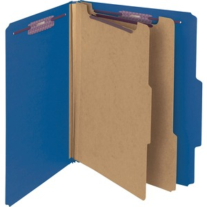 Smead 14200 Dark Blue PressGuard Classification File Folder with SafeSHIELD Fasteners SMD14200
