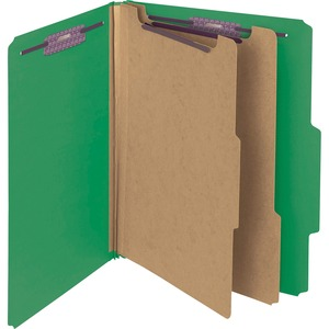 Smead 14201 Green PressGuard Classification File Folder with SafeSHIELD Fasteners SMD14201