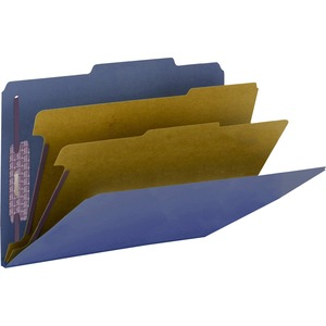Smead 19200 Dark Blue PressGuard Classification File Folder with SafeSHIELD Fasteners SMD19200