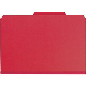 Smead 19202 Bright Red PressGuard Classification File Folder with SafeSHIELD Fasteners SMD19202