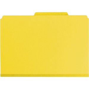 Smead 19203 Yellow PressGuard Classification File Folder with SafeSHIELD Fasteners SMD19203