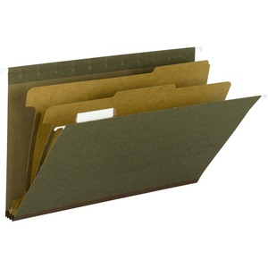 Smead 65160 Standard Green 100% Recycled Hanging Classification Folder with Tab SMD65160