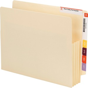 Smead 75165 Manila End Tab File Pockets with Reinforced Tab SMD75165