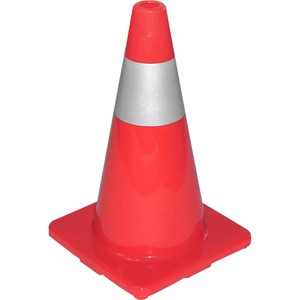 Tatco Sturdy Molded Reflective Traffic Cone TCO25500