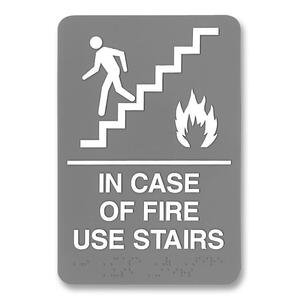 U.S. Stamp & Sign ADA Plastic Fire Use Stairs Sign USS5400