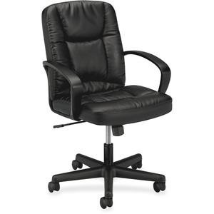 Basyx by HON VL171 Mid Back Loop Arm Management Chair BSXVL171SB11