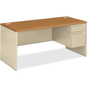 HON 38291R Pedestal Desk with Lock HON38291RCL