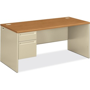 HON 38292L Pedestal Desk with Lock HON38292LCL