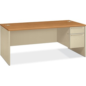 HON 38293R Pedestal Desk with Lock HON38293RCL