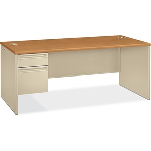 HON 38294L Pedestal Desk with Lock HON38294LCL