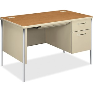 HON Mentor 88251R Single Pedestal Desk HON88251RCL