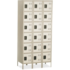 Safco Six-Tier Two-tone 3 Column Locker with Legs SAF5527TN