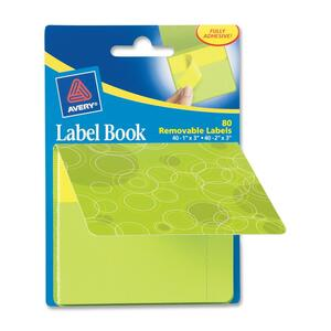 Avery Green Circles Label Book AVE22065