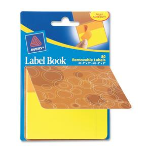 Avery Orange Circles Label Book AVE22066