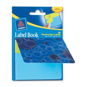 Avery Blue Circles Label Book AVE22067