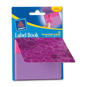 Avery Purple Circles Label Book AVE22068