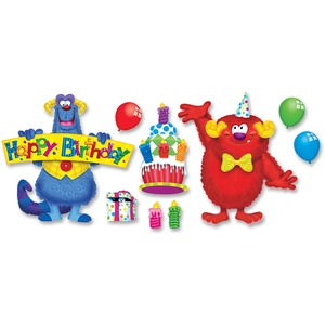 Trend Furry Friends Birthday Fun Bulletin Board Set TEPT8311