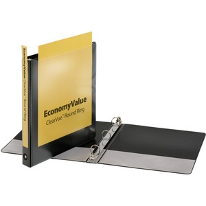 Cardinal EconomyValue ClearVue Round Ring Binder CRD90023