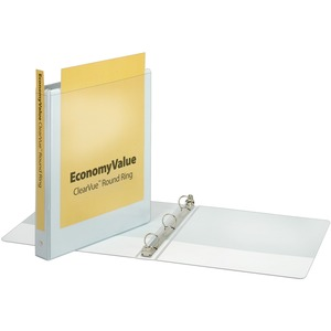 Cardinal EconomyValue ClearVue Round Ring Binder CRD90021
