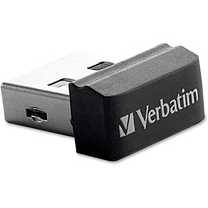 Verbatim 16GB Store 'n' Stay Nano USB Flash Drive - Black VER97464