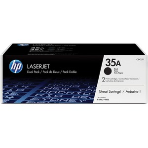 HP 35A (CB435D) 2-pack Black Original LaserJet Toner Cartridges HEWCB435D