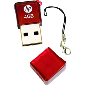 4GB HP FLASH KEY PEN USB RED V165