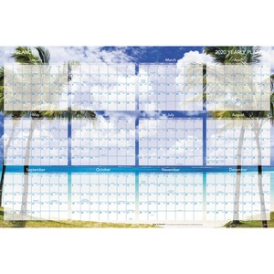 At-A-Glance Tropical Erasable Wall Planner AAGDMWTEE28