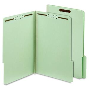 Globe-Weis Pressboard Folders with Fastener, Light Green GLW24931GW