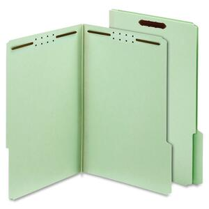 Globe-Weis Pressboard Folders with Fastener, Light Green GLW24934GW