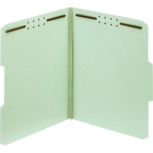 Globe-Weis 100% Recycled Presssboard Folder with Fastener GLW24931R