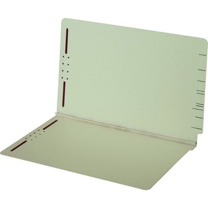 Globe-Weis End Tab Pressboard Folder with Fastener GLW47715GW
