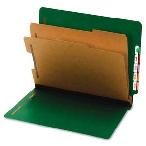 Globe-Weis Bright Color End Tab Classification Folder GLW23785GW