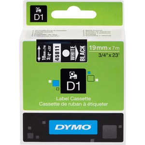 Dymo White on Black D1 Label Tape DYM45811
