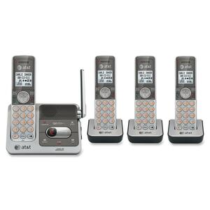AT&T CL82401 DECT 6.0 Expandable Cordless Phone with Answering System and Caller ID/Call Waiting, Silver, 4 Handsets ATTCL82401