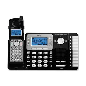 RCA ViSYS DECT Cordless Phone - Black, Silver RCA25252