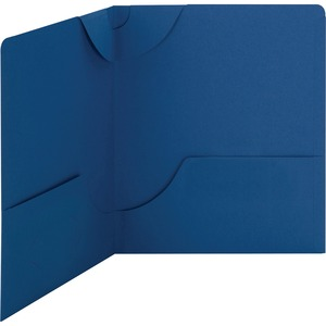 Smead 87982 Dark Blue Lockit Two-Pocket File Folder SMD87982