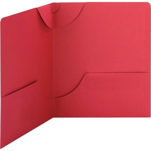 Smead 87980 Red Lockit Two-Pocket File Folder SMD87980