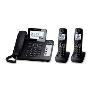 Panasonic DECT 6.0 1.90 GHz Cordless Phone - Black PANKXTG6672B