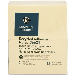 Business Source Adhesive Note BSN36621
