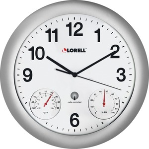 Lorell Analog Temperature/Humidity Wall Clock LLR61000